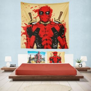 Deadpool Marvel Comic Art Wall Hanging Tapestry