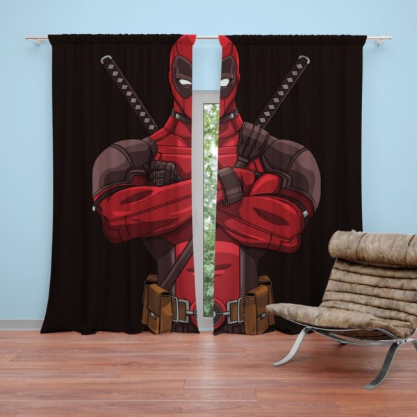 Deadpool Minimal Artwork Bedroom Curtain
