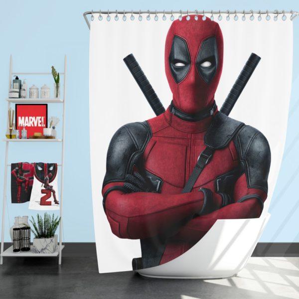 Deadpool Movie Shower Curtain