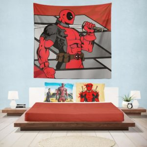 Deadpool The Gauntlet Infinite Comics Wall Hanging Tapestry