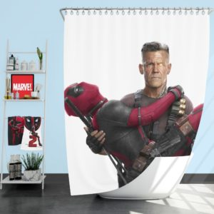 Deadpool and Cable Shower Curtain