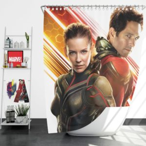 Evangeline Lilly and Paul Rudd Ant-Man Movie Shower Curtain