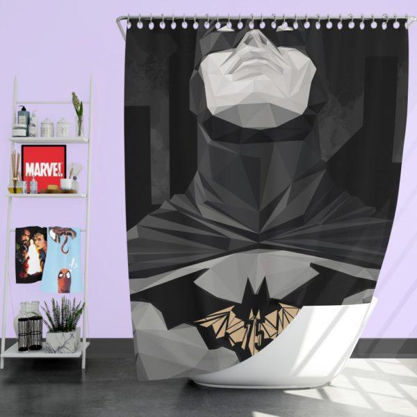 Geometric Batman Movie Comics Shower Curtain