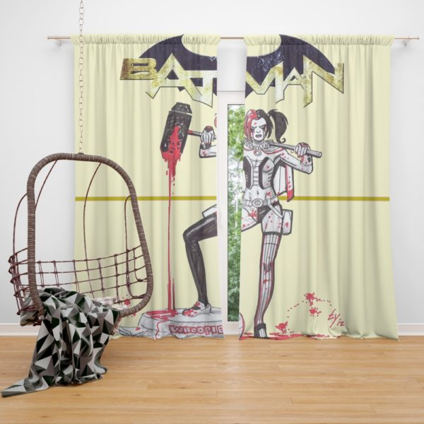 Harley Quinn DC Comics Batman Theme Curtain