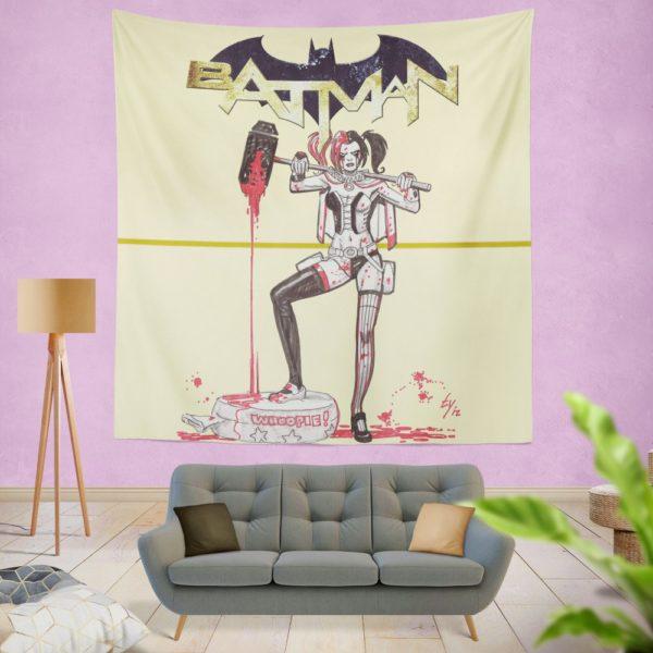 Harley Quinn DC Comics Batman Theme Wall Hanging Tapestry