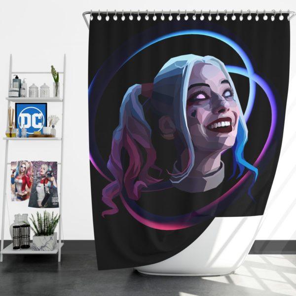 Harley Quinn Harleen Frances Quinzel DC Shower Curtain