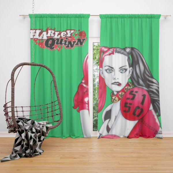 Harley Quinn Power Outage DC Comics Curtain