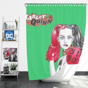 Harley Quinn Power Outage DC Comics Shower Curtain