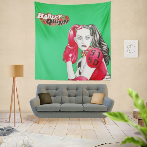 Harley Quinn Power Outage DC Comics Wall Hanging Tapestry