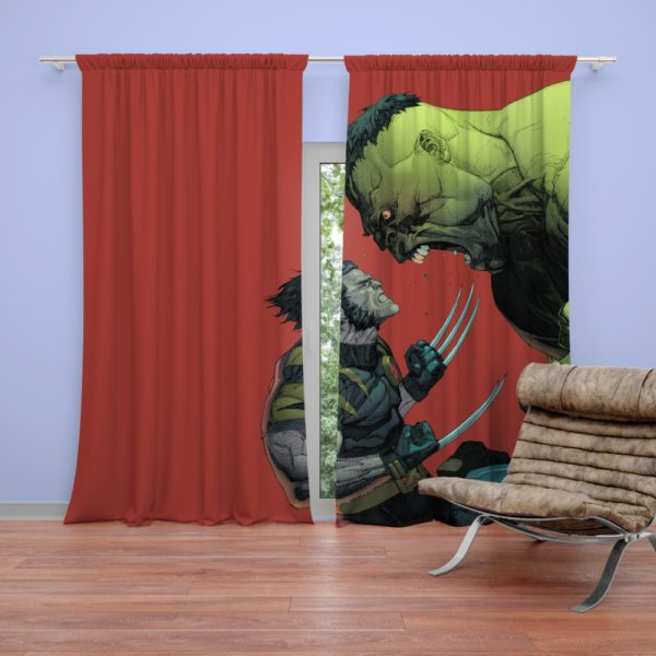 Hulk Vs Wolverine X-Men Comics Curtain