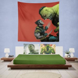 Hulk Vs Wolverine X-Men Comics Wall Hanging Tapestry