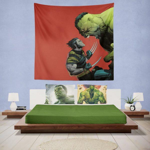 Hulk Vs Wolverine X-Men Comics Wall Hanging Tapestry