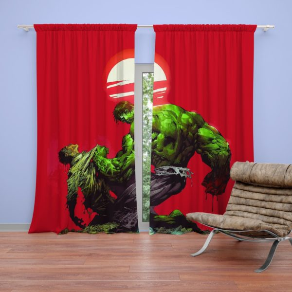 Hulk vs Bruce Banner Marvel Comics Curtain