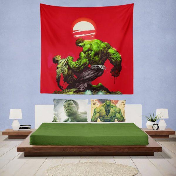 Hulk vs Bruce Banner Marvel Comics Wall Hanging Tapestry