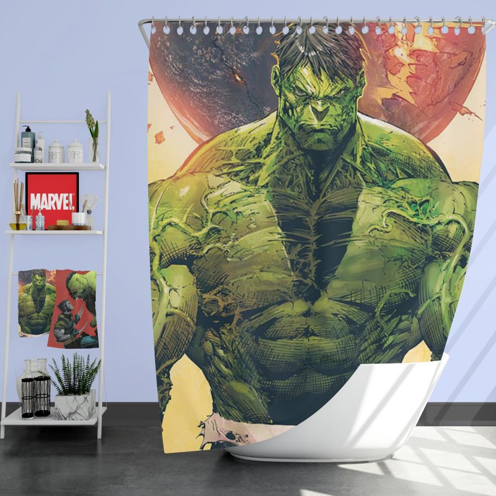 Incredible Hulk Sketch Shower Curtain