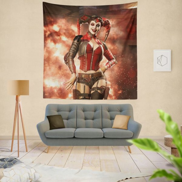 Injustice 2 Game DC Comics Harley Quinn Wall Hanging Tapestry