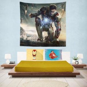 Iron Man 3 Movie Tony Stark Wall Hanging Tapestry