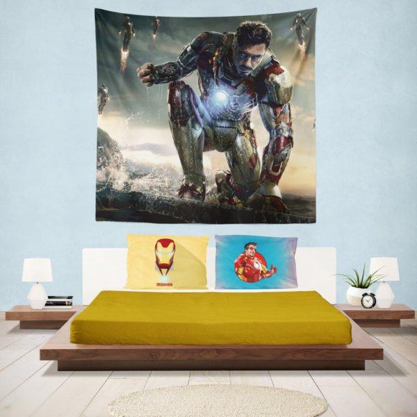 Iron Man 3 Movie Tony Stark Wall Hanging Tapestry