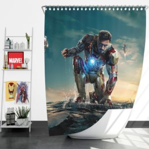 Iron Man 3 MovieTony Stark Robert Downey Jr. Shower Curtain