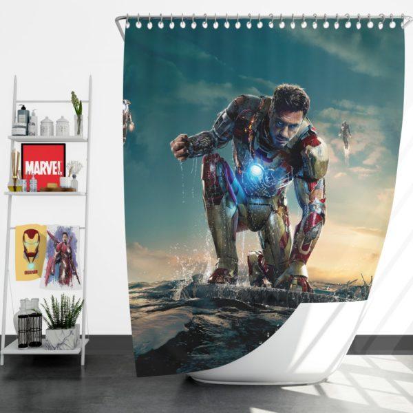 Iron Man 3 MovieTony Stark Robert Downey Jr. Shower Curtain