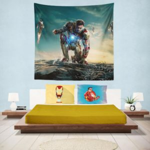 Iron Man 3 MovieTony Stark Robert Downey Jr. Wall Hanging Tapestry