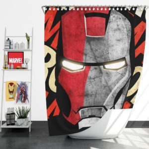 Iron Man Armor Model 9 Helmet Shower Curtain
