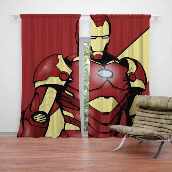 Iron Man Marvel Comics Superhero Curtain
