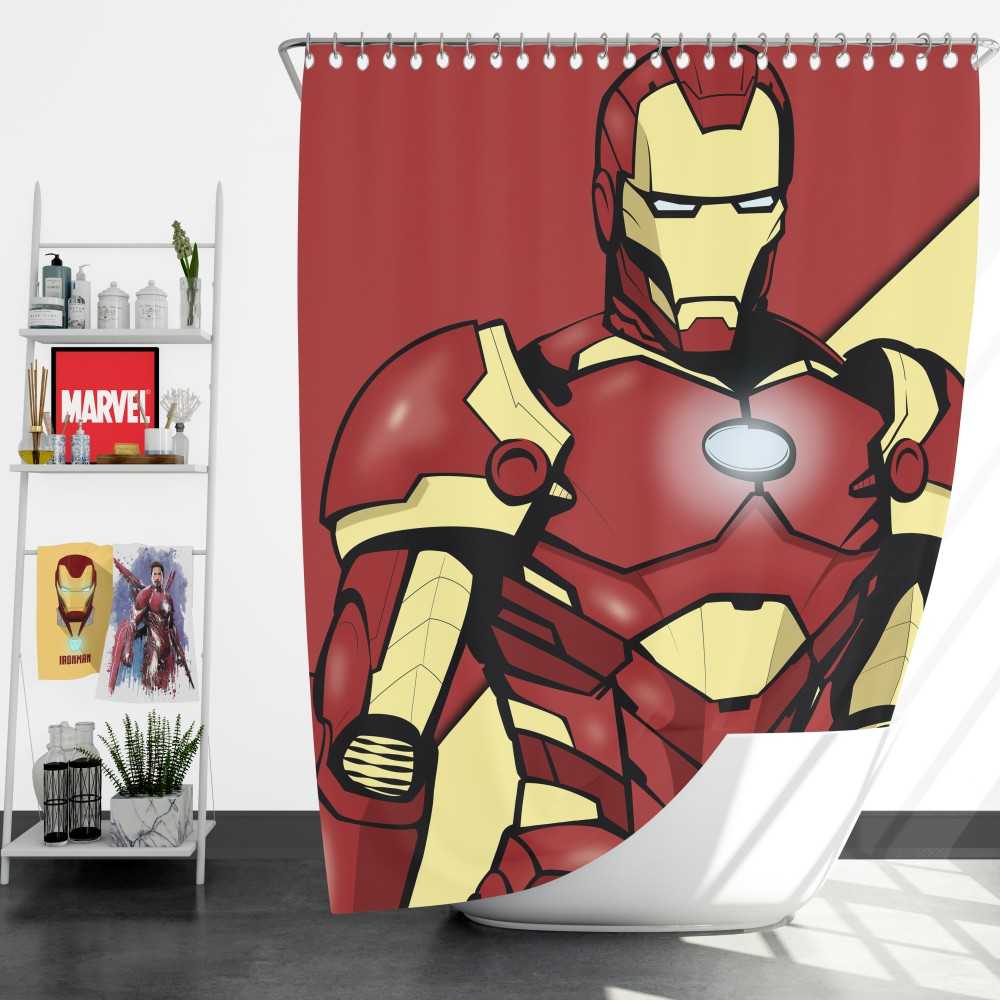 Iron Man Marvel Comics Superhero Shower Curtain