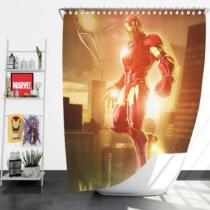 Iron Man Marvel vs. Capcom 3 Fate of Two Worlds Game Shower Curtain
