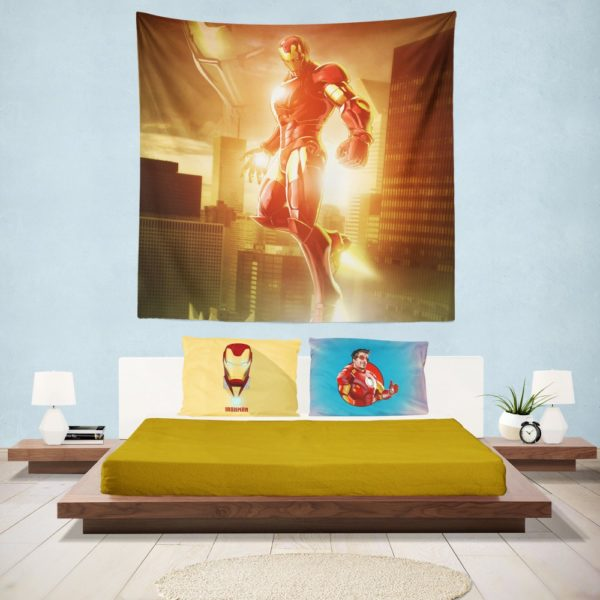 Iron Man Marvel vs. Capcom 3 Fate of Two Worlds Game Wall Hanging Tapestry