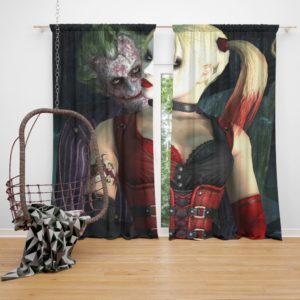 Joker And Harley Quinn Curtain