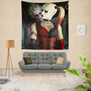 Joker And Harley Quinn Wall Hanging Tapestry
