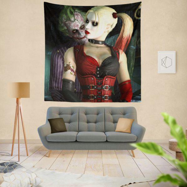 Joker And Harley Quinn Wall Hanging Tapestry