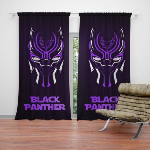 Marvel Avenger Black Panther Purple Dark Curtain