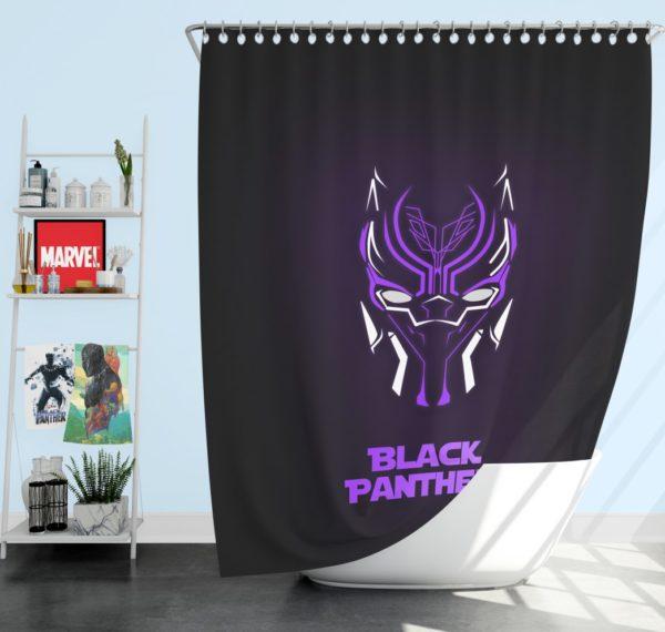 Marvel Avenger Black Panther Purple Dark Shower Curtain