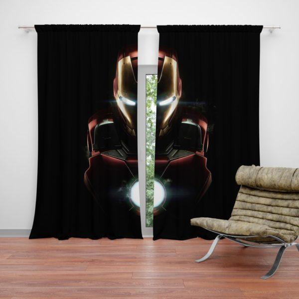 Marvel Avenger Iron Man Dark Theme Curtain