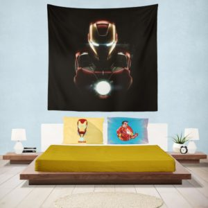 Marvel Avenger Iron Man Dark Theme Wall Hanging Tapestry