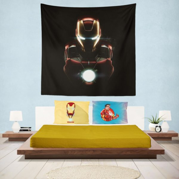 Marvel Avenger Iron Man Dark Theme Wall Hanging Tapestry