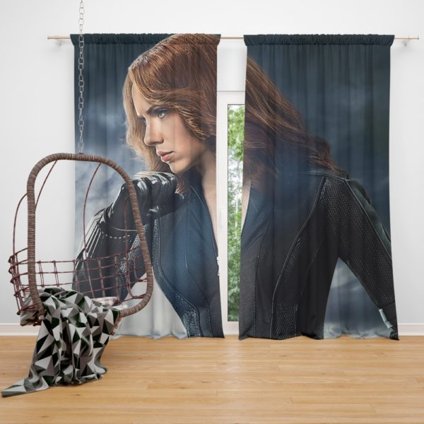 Marvel Avengers Super Hero Black Widow Curtain