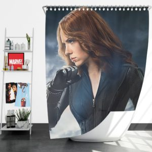 Marvel Avengers Super Hero Black Widow Shower Curtain