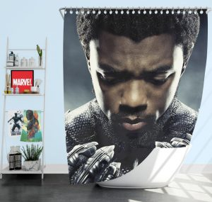 Marvel Black Panther T'Challa Chadwick Boseman Shower Curtain