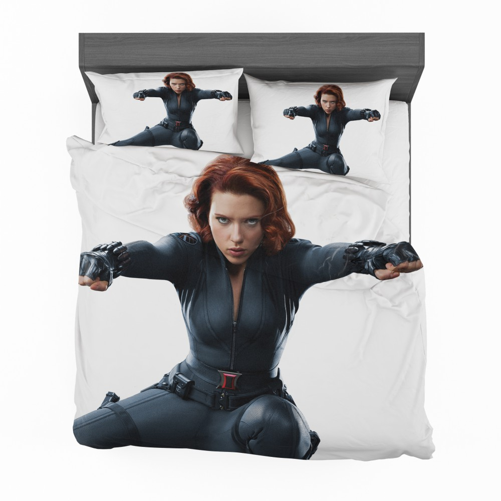 Marvel Black Widow The Avengers Shield Bedding Set Super
