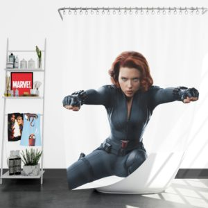 Marvel Black Widow The Avengers SHIELD Shower Curtain