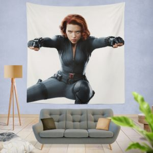 Marvel Black Widow The Avengers SHIELD Wall Hanging Tapestry