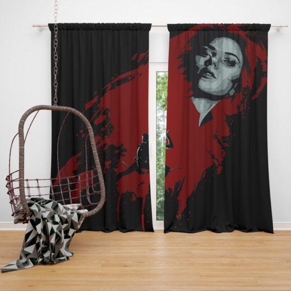 Marvel Black Widow and Hawkeye Clint Barton Curtain