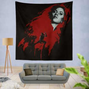 Marvel Black Widow and Hawkeye Clint Barton Wall Hanging Tapestry
