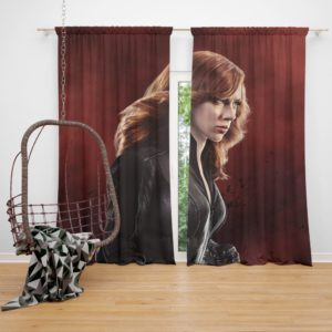 Marvel Black Widow in Captain America Civil War Curtain