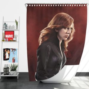 Marvel Black Widow in Captain America Civil War Shower Curtain