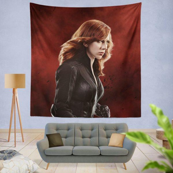 Marvel Black Widow in Captain America Civil War Wall Hanging Tapestry