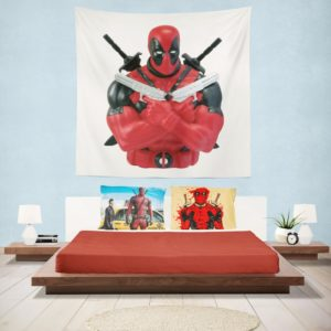 Marvel Bust Bank Deadpool Action Figures Wall Hanging Tapestry